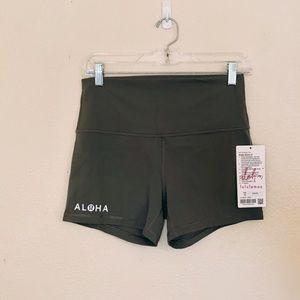 NWT Aloha Align Shorts Army Green 10